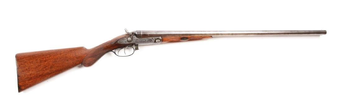 (A) Parker Double Hammer SxS Lifter Shotgun.