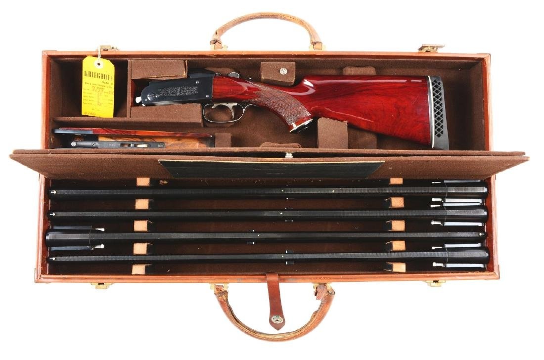 (M) Cased Krieghoff Model 32 Four Barrel Set Over and
