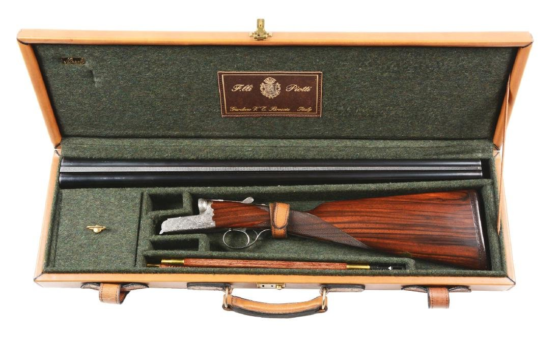 (M) Cased Italian Double Barrel Box Lock Shotgun by