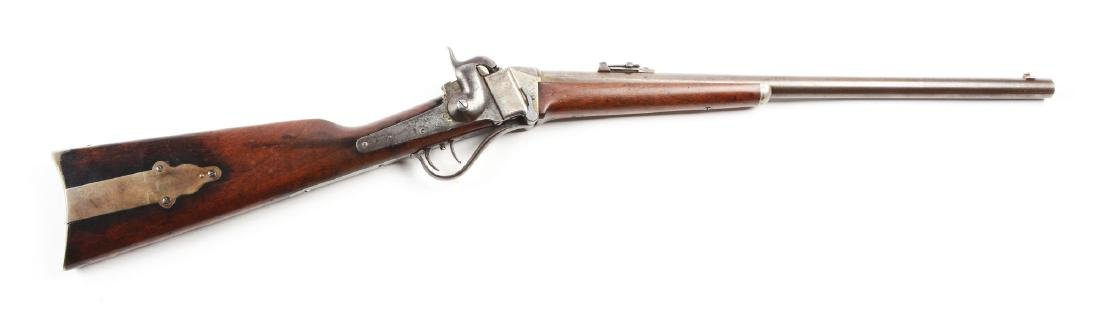 (A) Sharps Model 1852 Slant Breech Sporting Rifle.