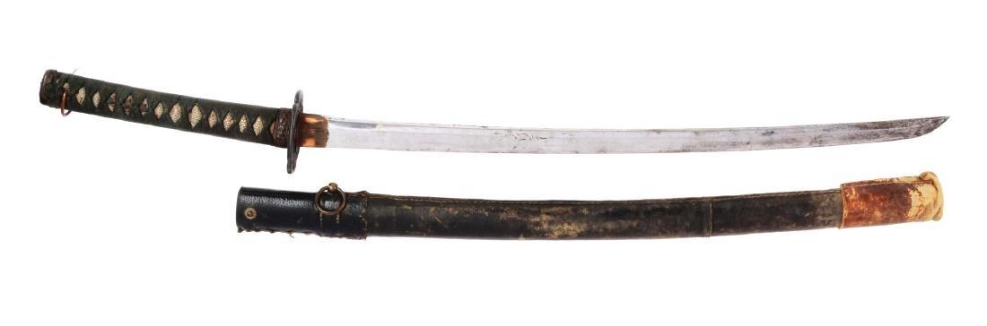 World War II Japanese Sword in Civilian Mounts.