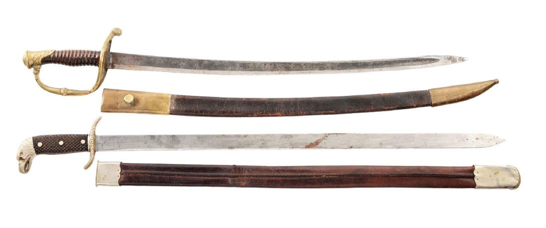 Lot of 2:  Continental Swords with Scabbards.