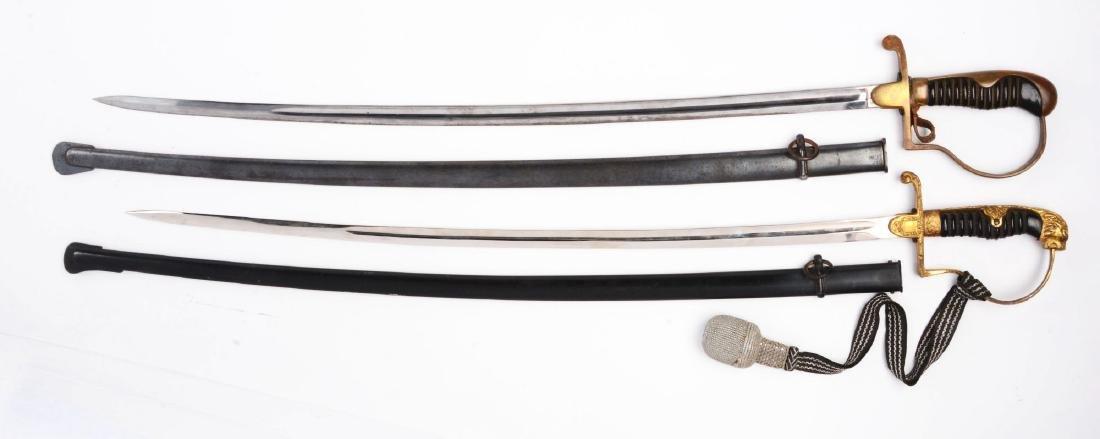 Lot of 2: German Military Swords. - 2