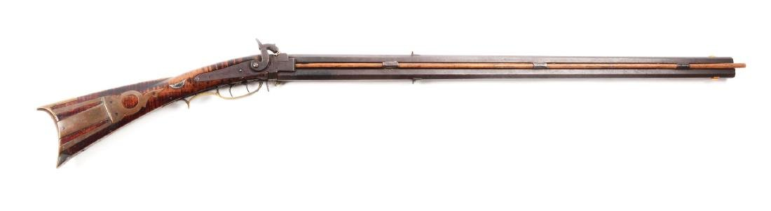 (A) Swivel Breech Percussion Kentucky Combination Rifle