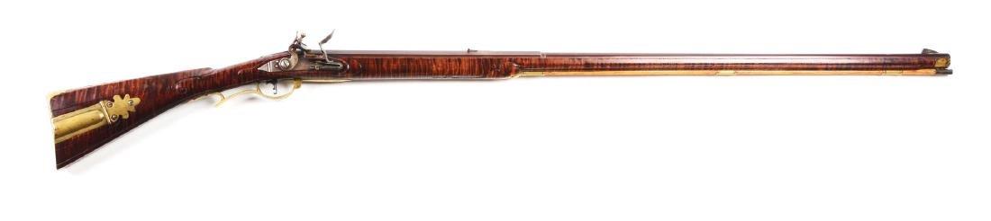 (A) Contemporary Flintlock Kentucky Rifle by Thomas