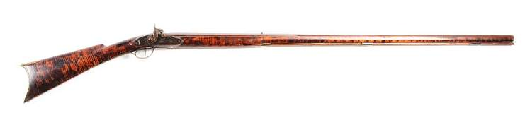 (A) Fullstock Percussion Kentucky Rifle Signed P.