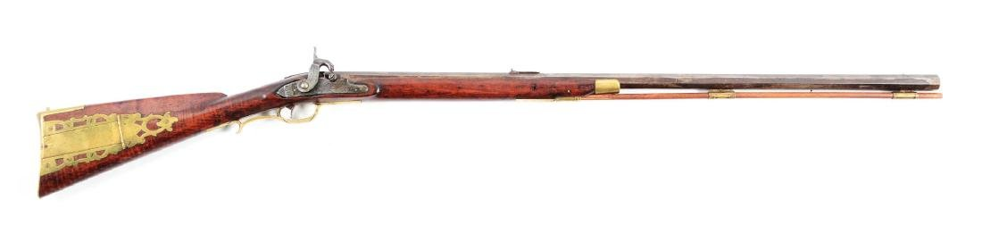 (A) Percussion Half-stock Kentucky Rifle.