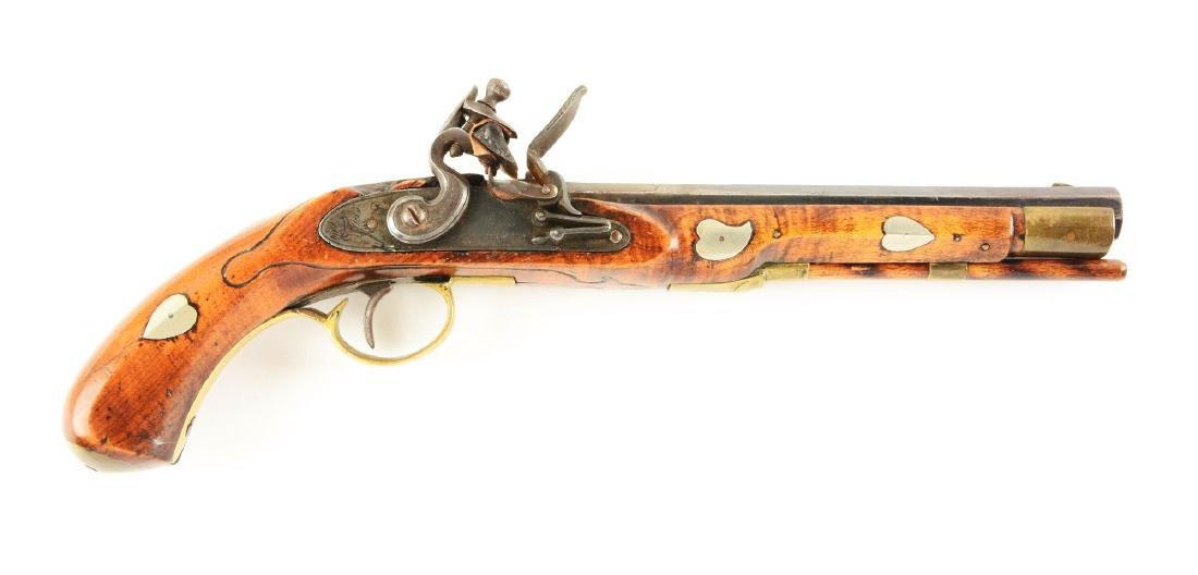 (A) Flintlock Kentucky Pistol.