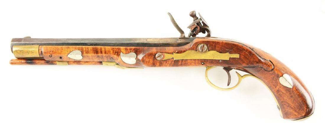 (A) Flintlock Kentucky Pistol. - 2