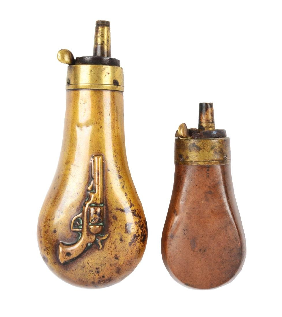 Lot of Two Powder Flasks.
