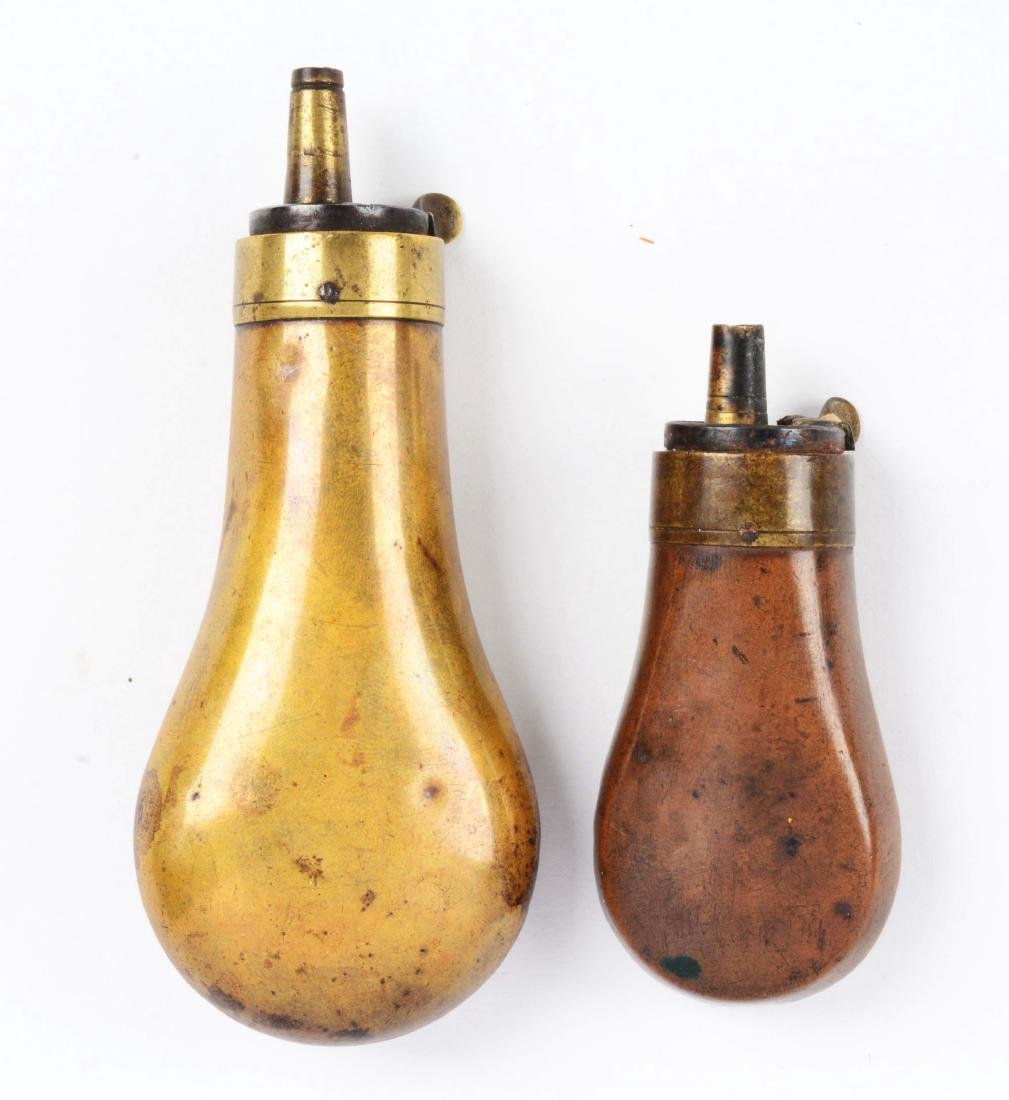 Lot of Two Powder Flasks. - 2
