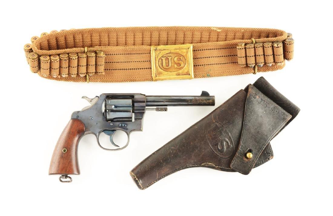 (C) U.S. Colt Model 1909 Revolver with Rig & Paperwork.