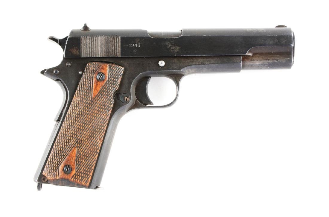 (C) Norwegian Model 1914 Semi-Automatic Pistol (1941).