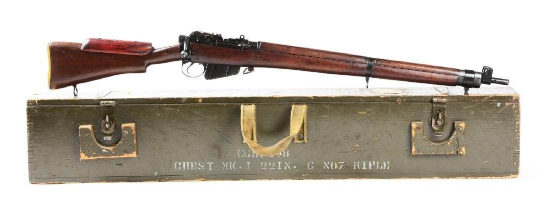 (C) British Lee Enfield Bolt Action Sniper Rifle With