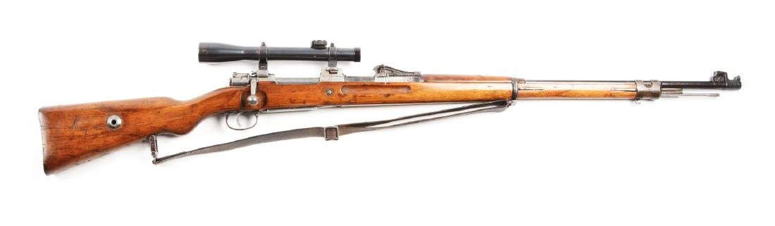 (C) World War I GEW 98 Sniper Bolt Action Rifle.