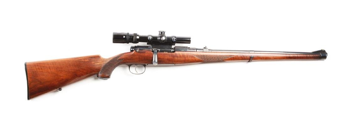 (C) Mannlicher Schoenauer Model 1950 Bolt Action Rifle.