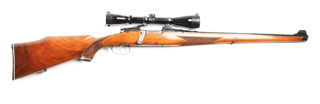 (C) Mannlicher Schoenauer Model MCA Bolt Action Rifle.