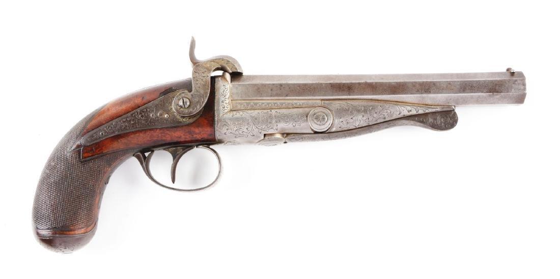 (A) Howdah Single Shot Pinfire Pistol.