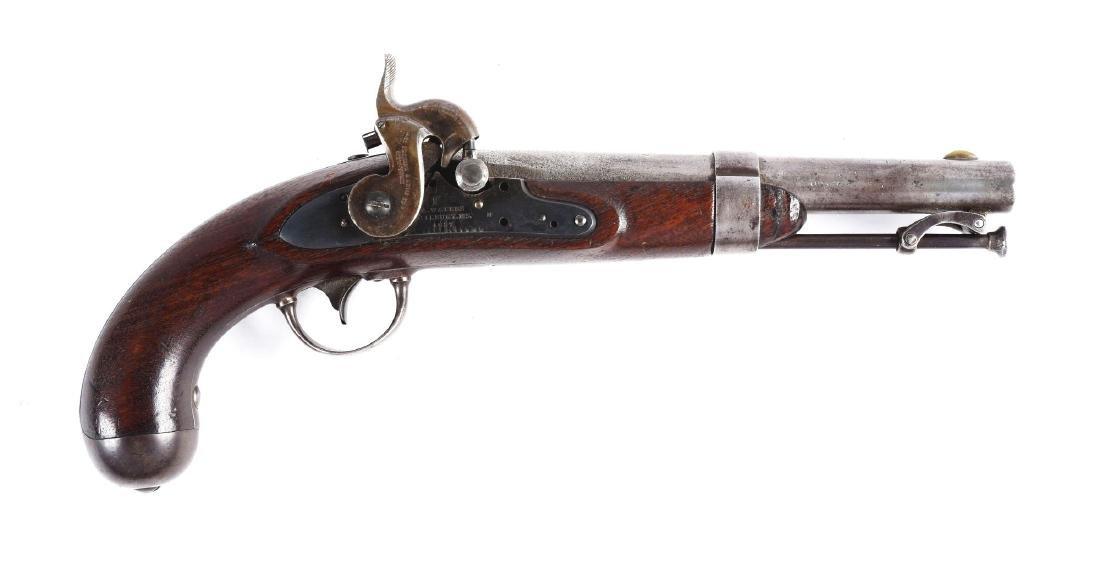 (A) U.S. Model 1836 Gedney Patent Conversion Pistol