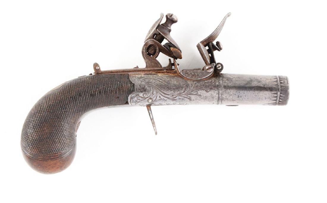 (A) Diminutive Flintlock Screwbarrel Pistol by
