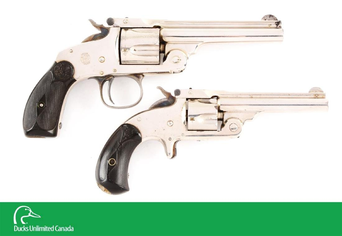 (A^) Lot of 2: S&W .38 Single Action 3rd Model