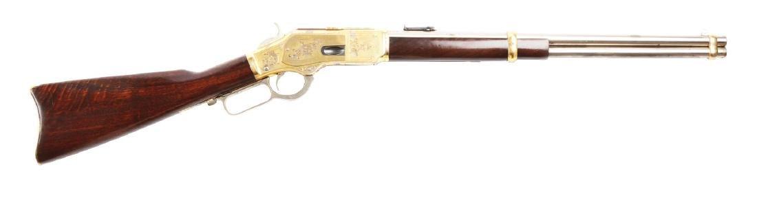 (A) 1889 Paris Exhibition Winchester Deluxe Model 1873
