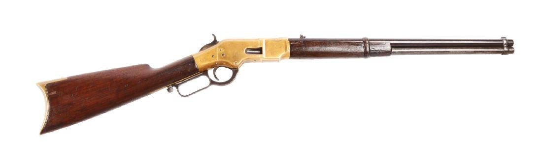 (A) Winchester Model 1866 Saddle Ring Carbine.