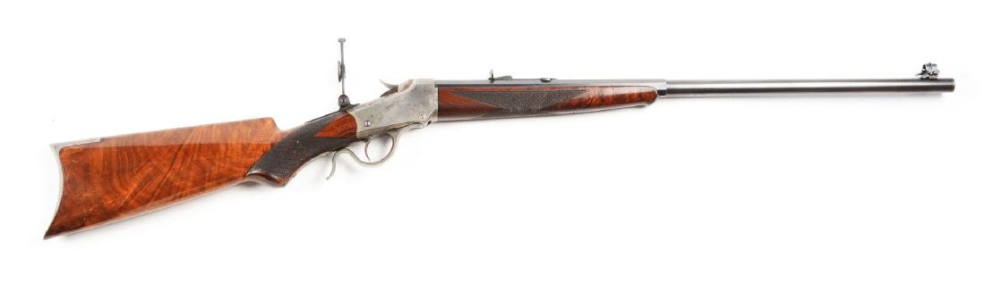(A) Deluxe Model 1885 Low Wall Single Shot Rifle.
