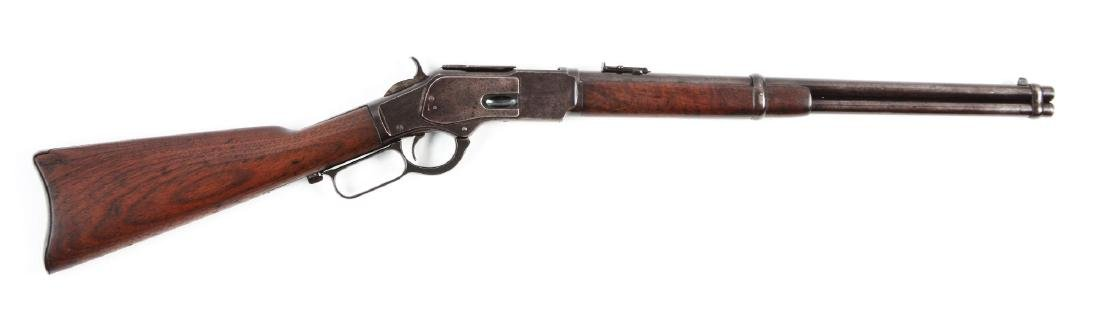 (A) Winchester Model 1873 Saddle Ring Carbine.