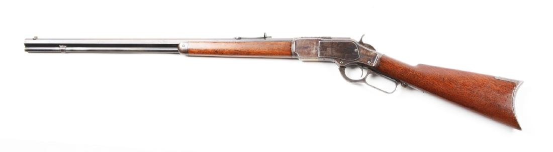 (A) Winchester Model 1873 Lever Action Rifle. - 2
