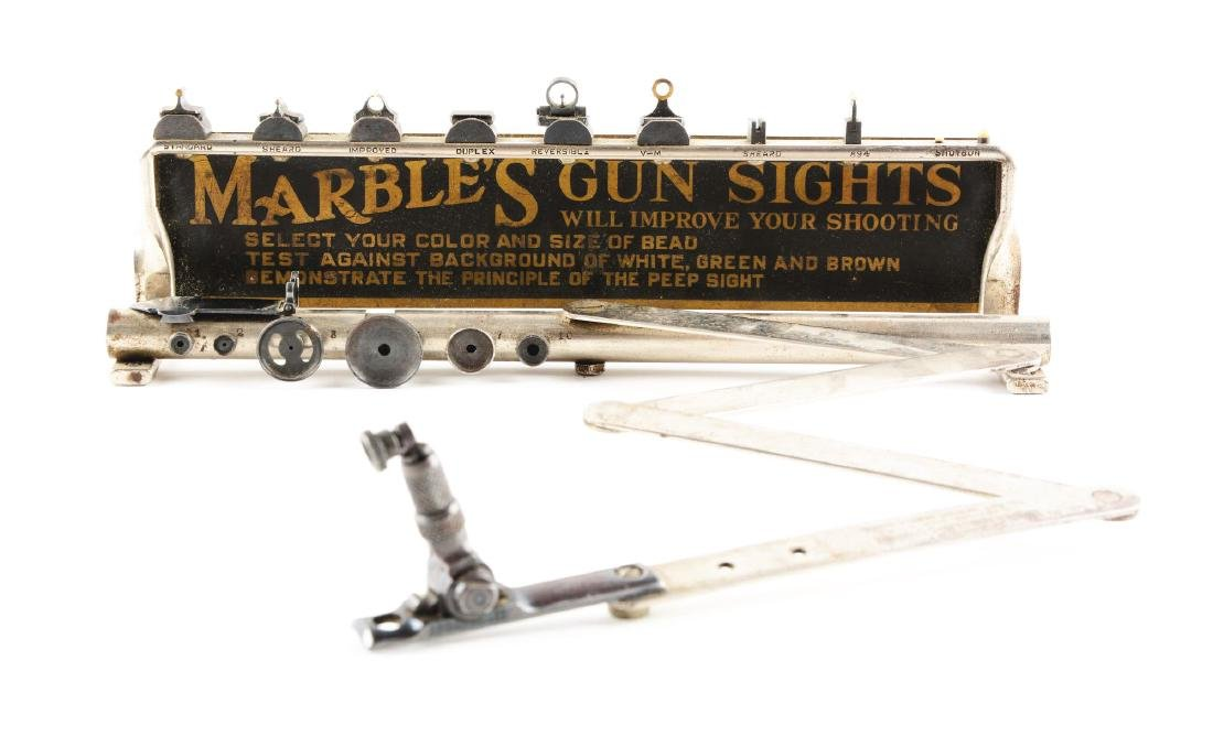 Marble's Gun Sights Store Display.