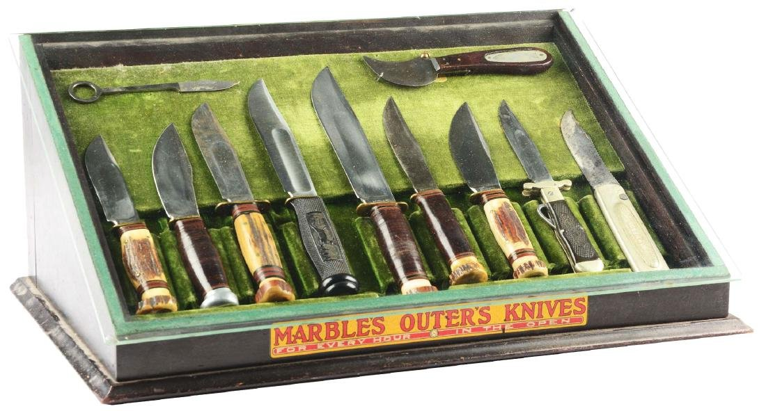Extremely Rare Marbles Gladstone Counter Knife Display.