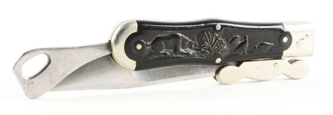 M.S.A. Co. Gladstone Early Folding Safety Hunter Knife. - 4