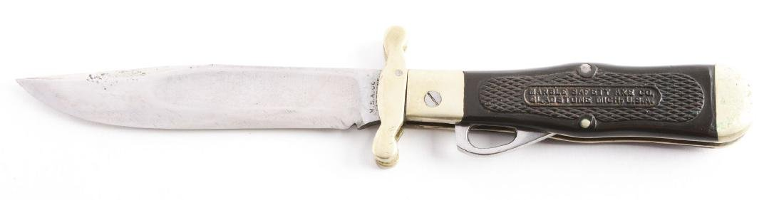 M.S.A. Co. Gladstone Early Folding Safety Hunter Knife. - 2