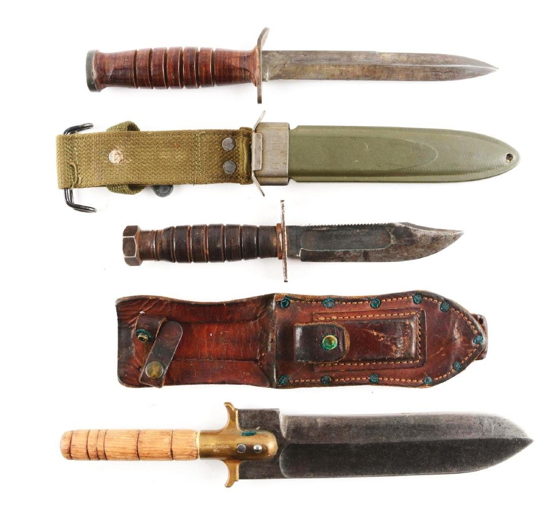 Lot of 3: Military Fixed Blade Knives.