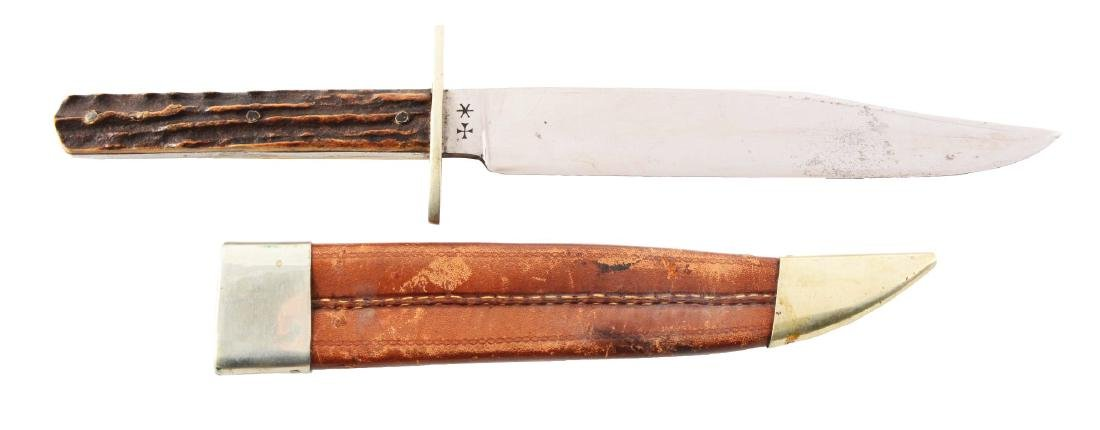 J. Rodgers & Sons Bowie Style Hunting Knife.