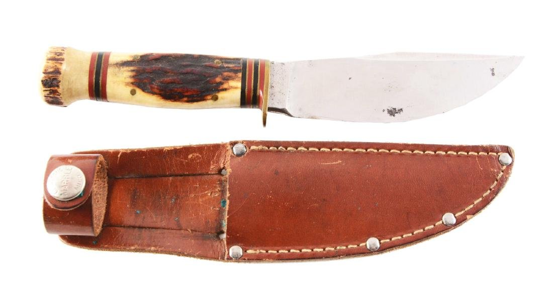 "Marbles Gladstone ""Woodcraft"" Fixed Blade Knife."
