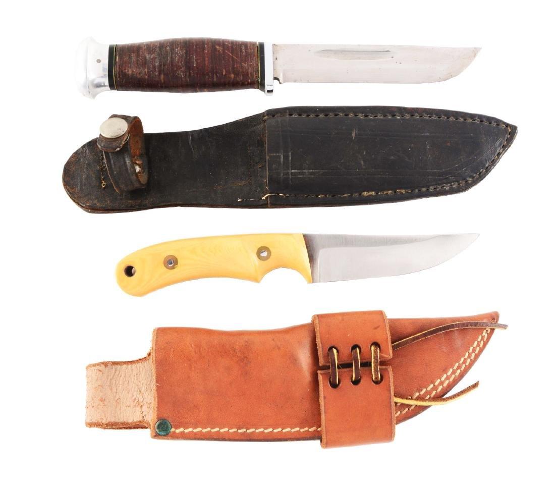 Lot of 2: Custom Fixed Blade Knives.