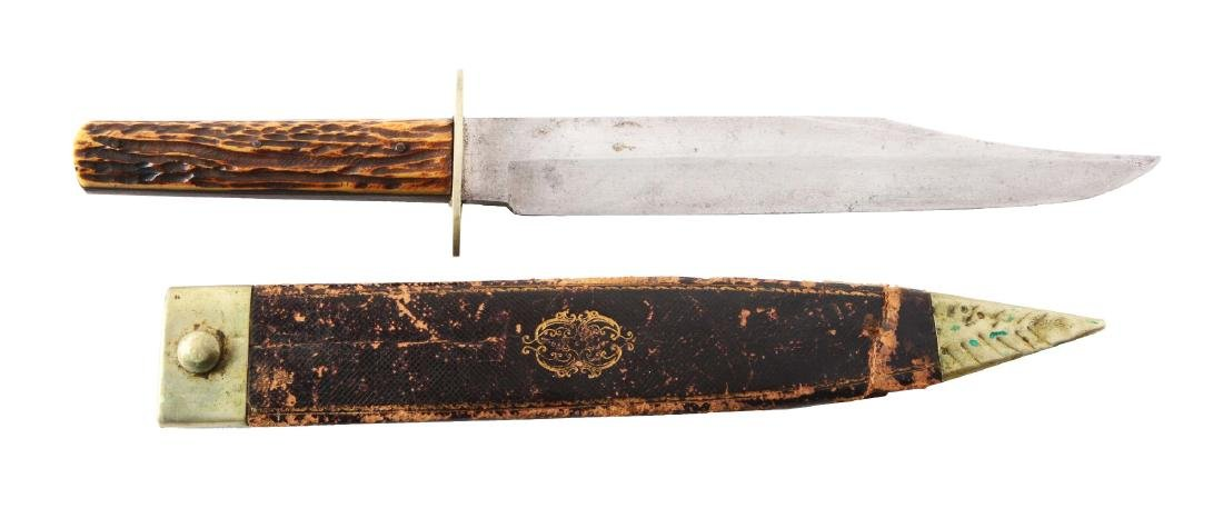 Joseph Allen & Sons Bowie Style Hunting Knife.