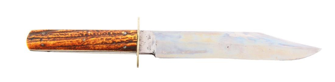 Wragg Sheffield England Bowie Style Hunting Knife.