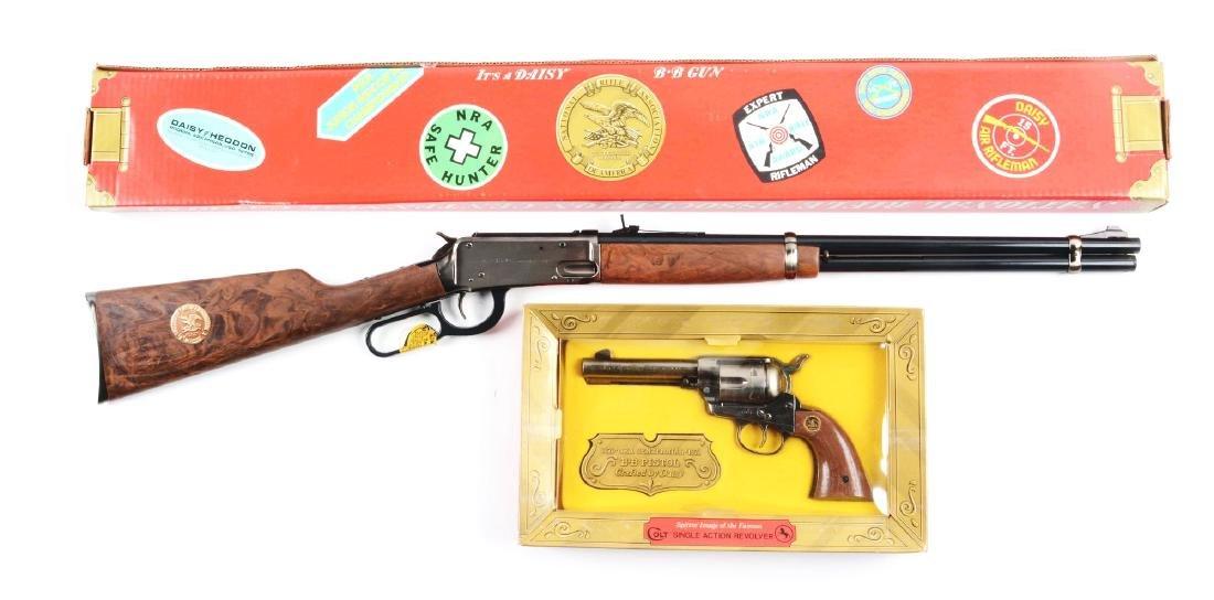 Lot of 2: Boxed Daisy NRA Centennial Rifle & Pistol