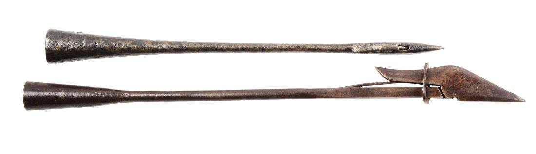Lot of 2: 19th Century Toggle Whaling Harpoons.