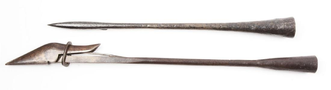 Lot of 2: 19th Century Toggle Whaling Harpoons. - 2