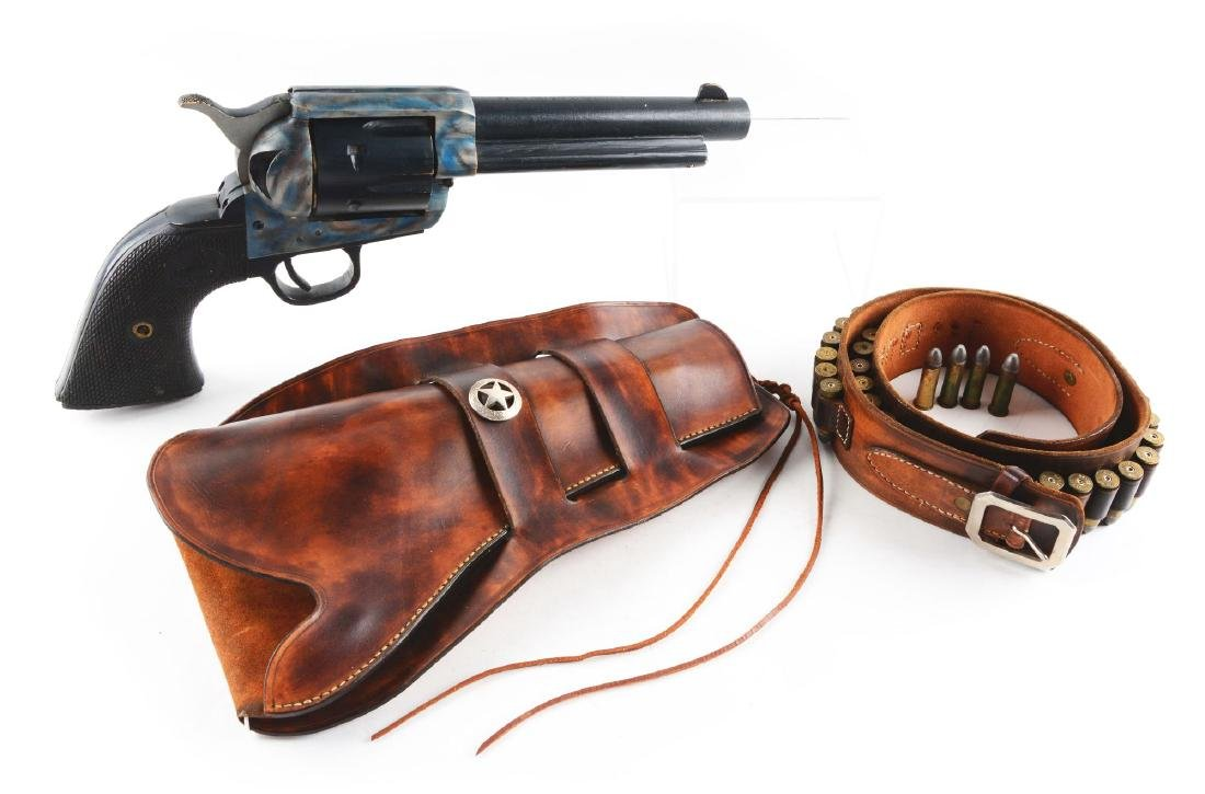 """Large 24"""" Wooden Colt Single Action Army Carved Store"""