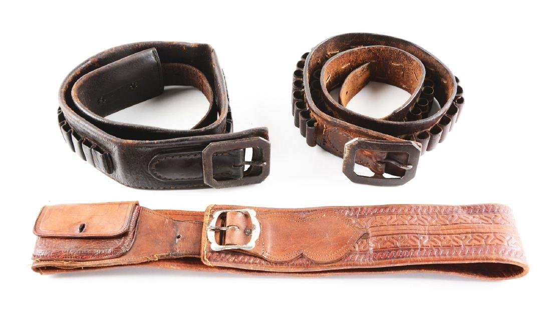 Lot of 3: 1800's Cartridge Money Belts.