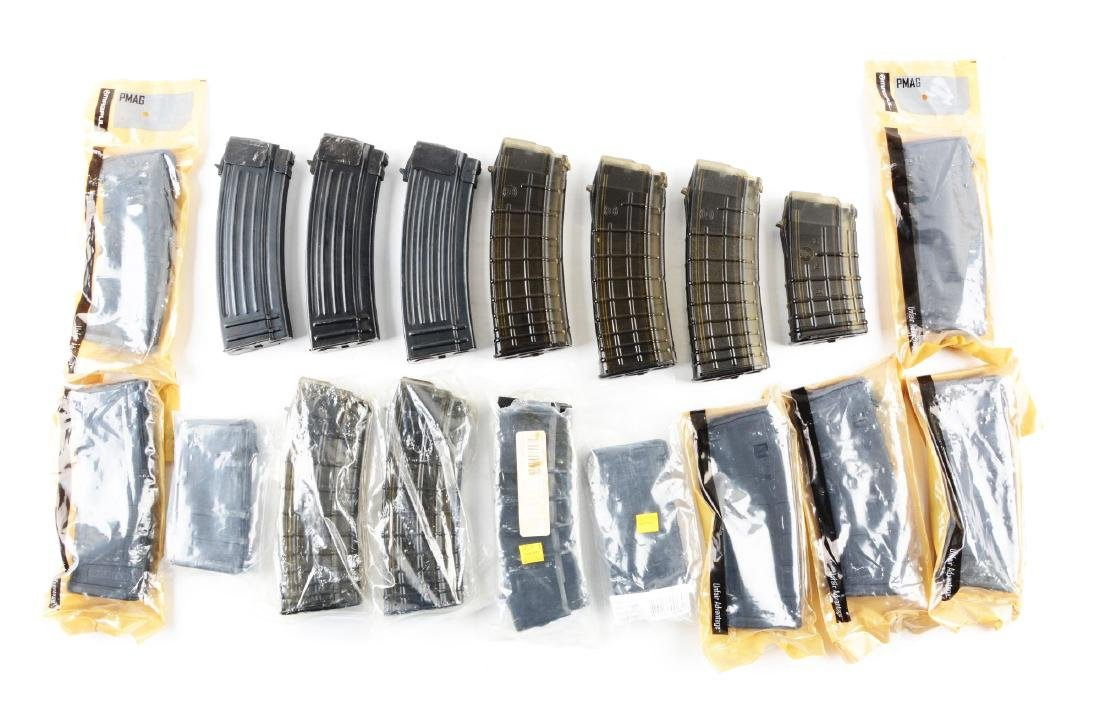 Lot of 18: 5.56 Caliber AR and AK Style Magazines.
