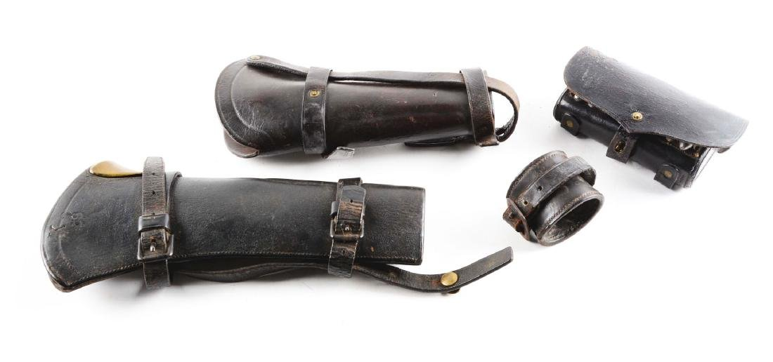 Lot of 4: India Wars Cavalry Leather.