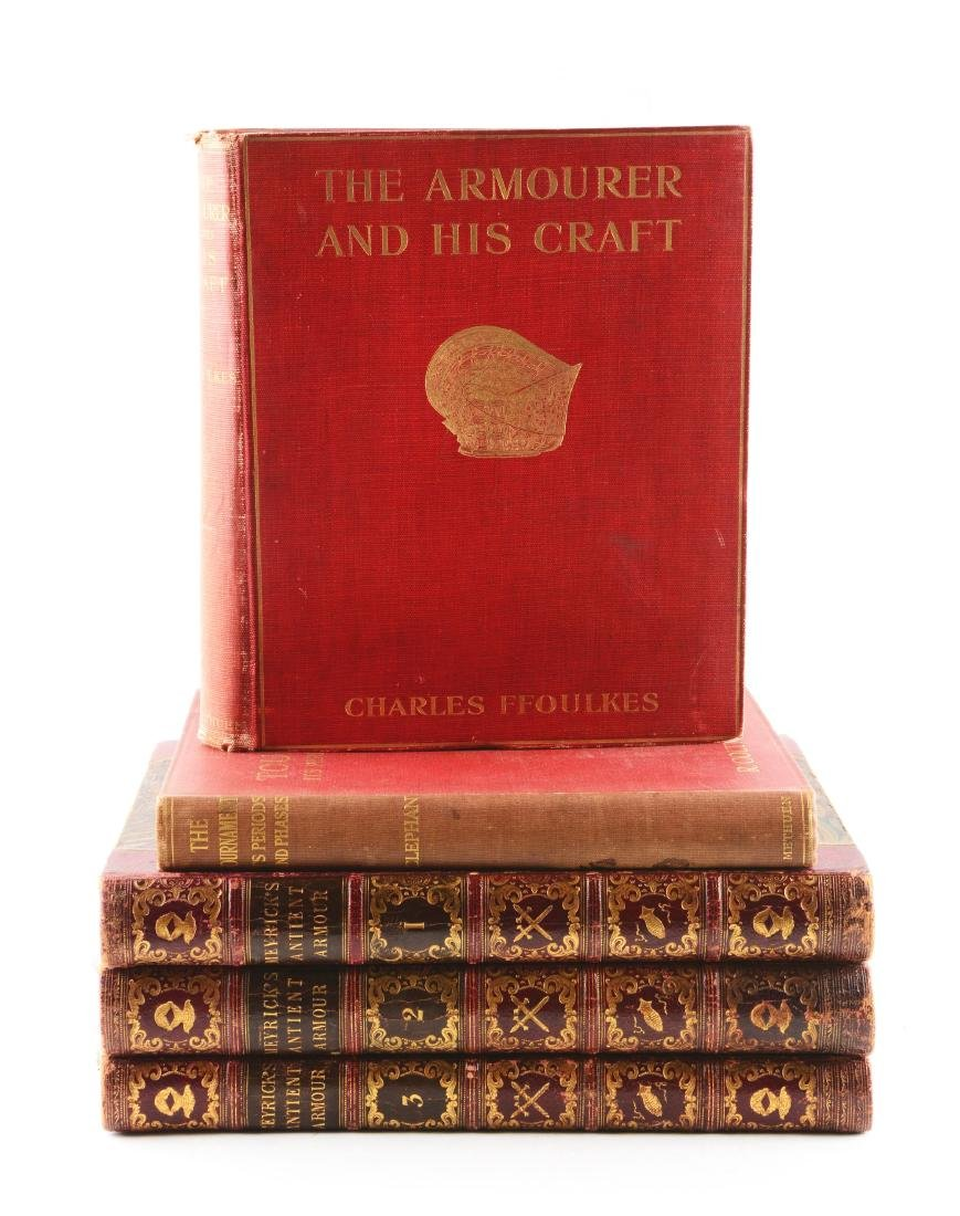Lot of 5: Books on Antique Arms & Armor.