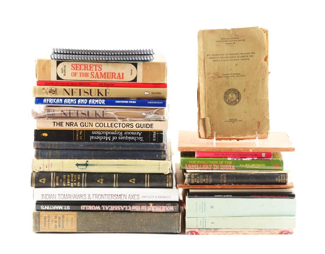 Lot of 35: Miscellaneous Books on Firearms, Edged Hand