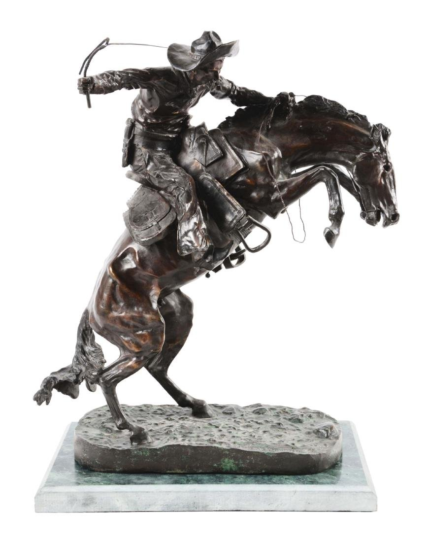 "24"" Remington ""The Broncho Buster"" Bronze."